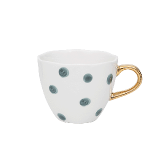Mug Good Morning Dots Mini Bleu Vert