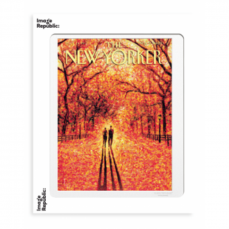 Affiche The Newyorker drooker autumn leaves 56x76cm