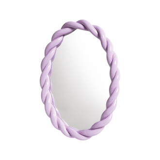 Miroir Braid Oval Lilas