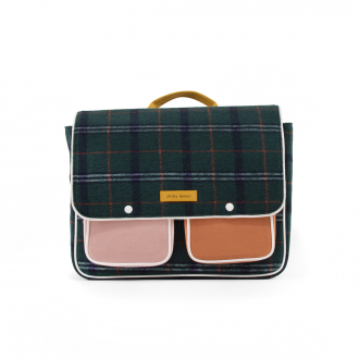 Cartable Wanderer Forest Green Checks Carreaux