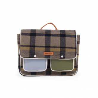 Cartable Wanderer Beige Checks Carreaux