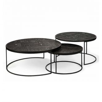 Set de 3 Tables Gigognes Tabwa Noir
