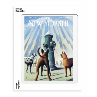 Affiche The New Yorker Drooker Dog's eye view 27 juin 2005 - 30 x 40 cm