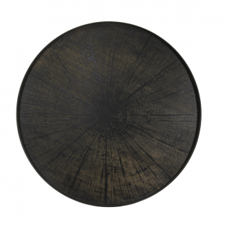 Plateau rond Black slice XL