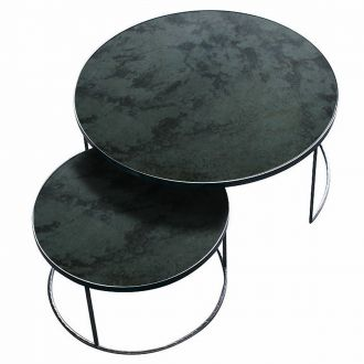 Set de 2 tables gigognes Antique noir