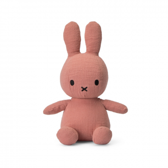 Peluche Lapin Miffy Mousseline Rose