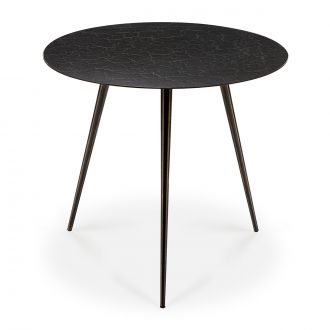 Table basse Luna Lava Noir Ø50 cm