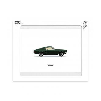 Affiche Le duo voiture mustang gt fastback