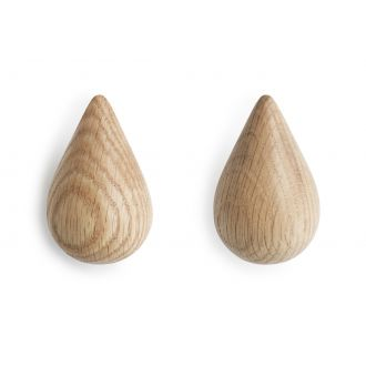 Patère Drop It (lot de 2) Small Naturel