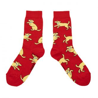 Chaussettes Labrador Opaques Rouge
