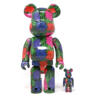Bearbrick 100+400% Andy Warhol - Flowers