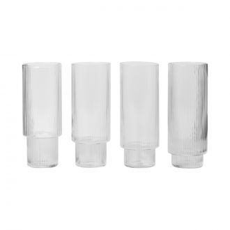 Set de 4 Verres longs Ripple
