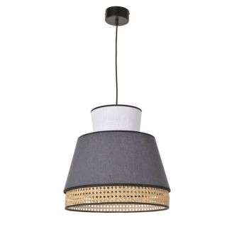 Suspension Singapour Anthracite & blanche MM