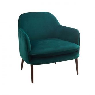 Fauteuil Charmy Velours Vert