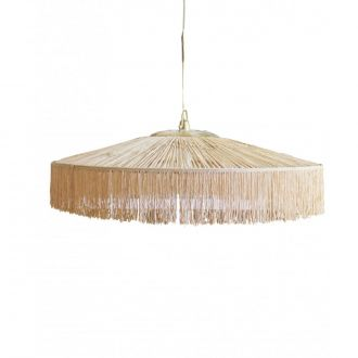 Suspension Parasol Franges GM Naturel