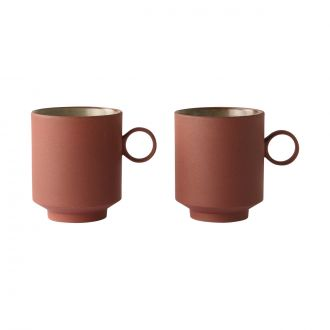 Set de 2 Tasses Bold & Basic Terracotta