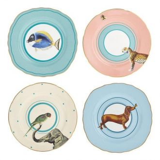 Set de 4 Assiettes à dessert Animals