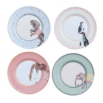 Set de 4 Assiettes Carnival Animaux
