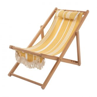 Chaise Sling Vintage Jaune