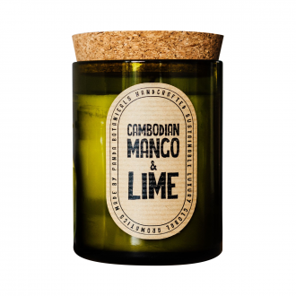 Bougie Bouteille Cambodgien Lime+Mangue