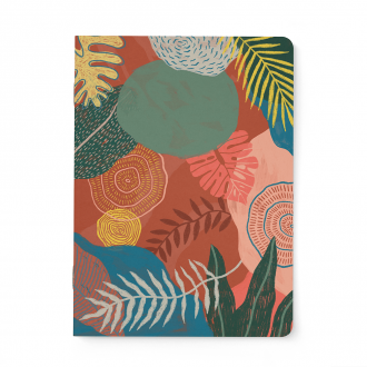 Carnet Notebook A5 Rouge Indien