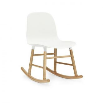 FORM ROCKING CHAIR PIEDS EN CHàNE Blanc