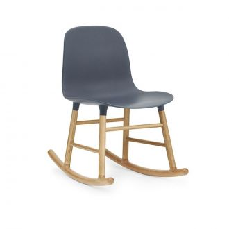 FORM ROCKING CHAIR PIEDS EN CHàNE Bleu