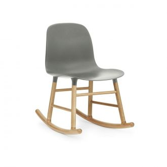 FORM ROCKING CHAIR PIEDS EN CHàNE Gris
