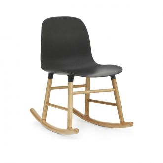 FORM ROCKING CHAIR PIEDS EN CHàNE Noir