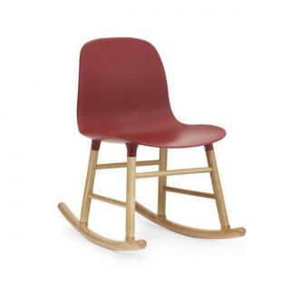 FORM ROCKING CHAIR PIEDS EN CHàNE Rouge