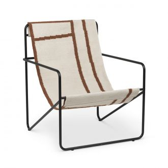 Chaise Lounge Desert Black / Shapes