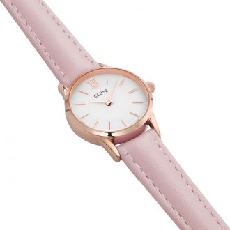 Montre La Vedette Rose Gold White/Pink