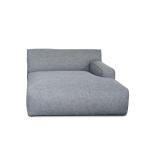 Accoudoir Droit Clay Longchair - 1,5 places - Polvere 90 Gris