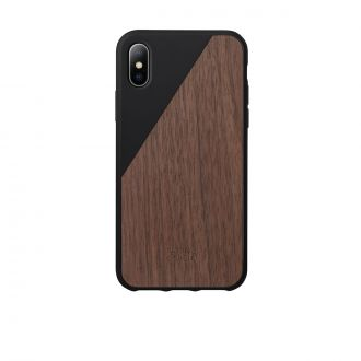 Coque iPhone X Wooden Noir