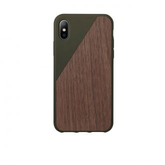 Coque iPhone X Wooden Olive