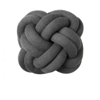 Coussin Noeud Gris
