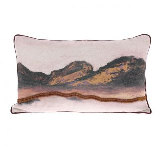 Coussin Double-Face Paysage Rose