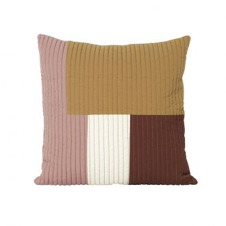 Coussin Shay Quilt Moutarde PM - 50 x 50 cm