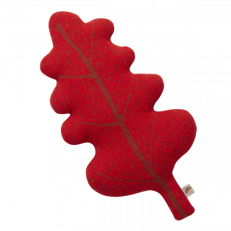 COUSSIN FEUILLE Rouge 54x32cm