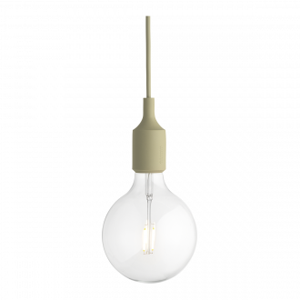 Suspension E27 LED beige-vert