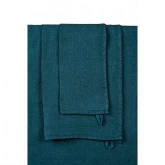 Mini serviette Java - 30 x 50 - Bleu de Prusse