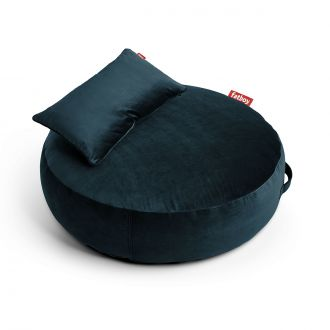 Pouf Pupillow Velours Pétrole