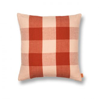 Coussin Grand - Rose/Rouille
