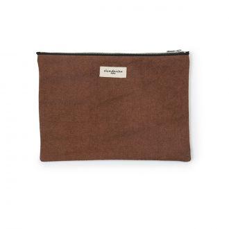 BARBETTE THE COOL POUCH M Brown Jasper