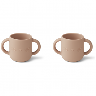 Set de 2 Tasses Gene chat Rose