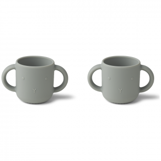 Set de 2 Tasses Gene lapin Dove bleu
