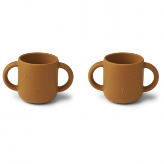 Set de 2 Tasses Gene lapin Moutarde