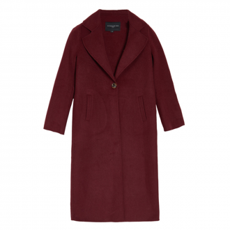 Manteau Feutre long Bordeaux