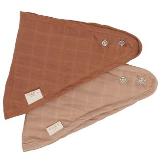 Set de 2 Mini Bavoirs Sui Mousseline Warm