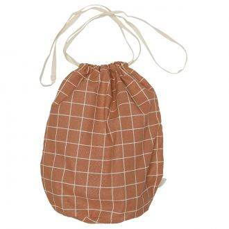 Sac Multi L Terracotta Check